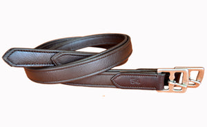 10 Pairs 1'' x 54'' Super soft Havana Stirrup Leathers