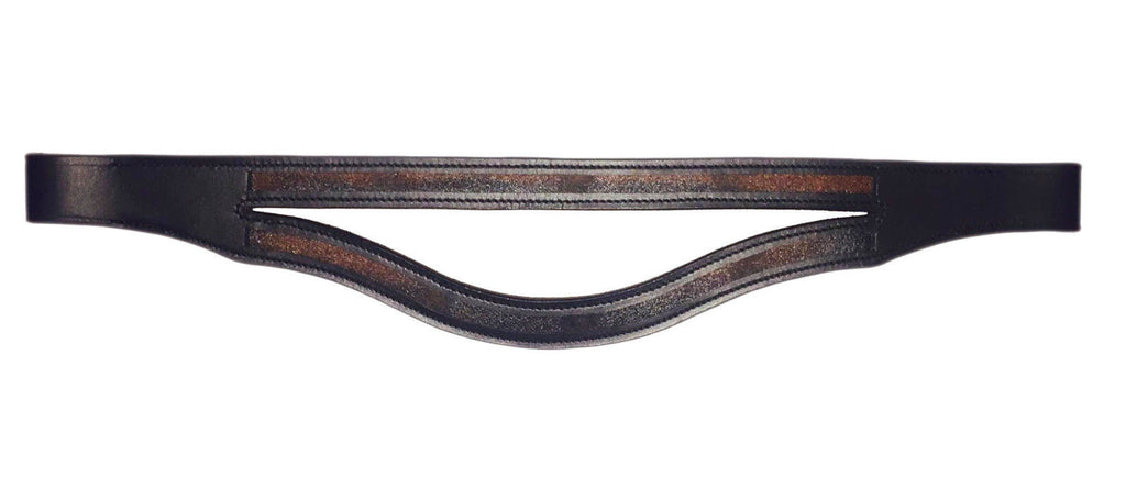 Double Straight U shape Browband Empty Channel - Straight and U 8 mm