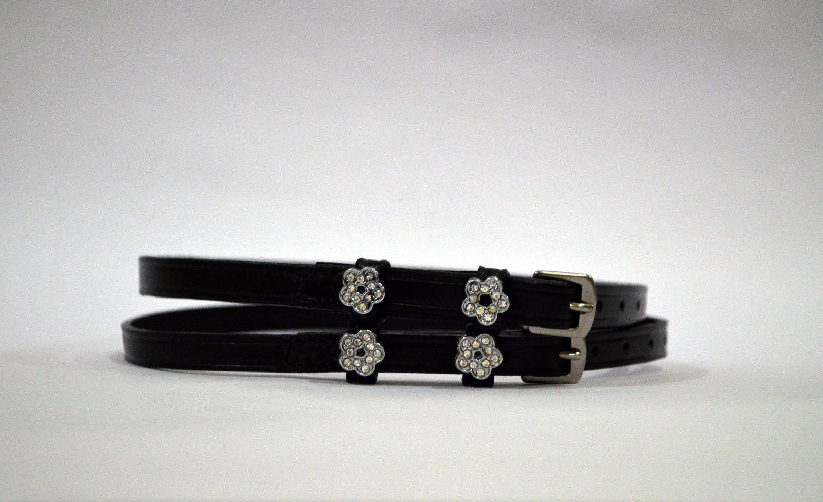 New Flower Leather Spur Strap for boots - English Spur Straps SIE