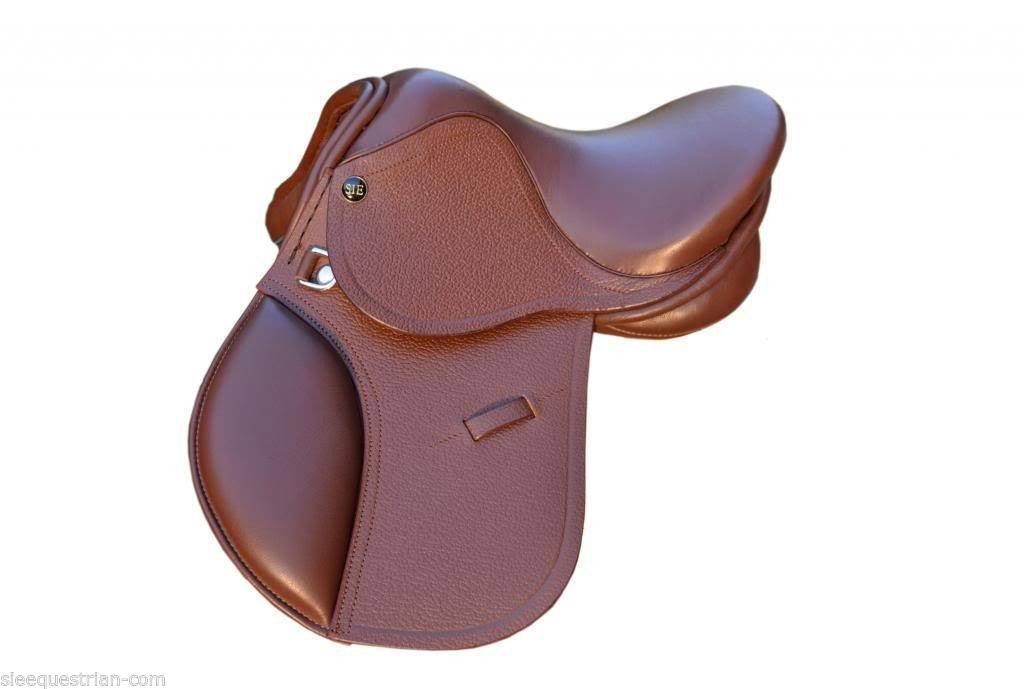"English Jumping LEATHER SADDLE for KIDS- 10"" /12"" Matching Leathers & Stirrups"