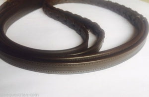 Qty. 2 Empty channel leather reins  all colors and size braided  4 mm