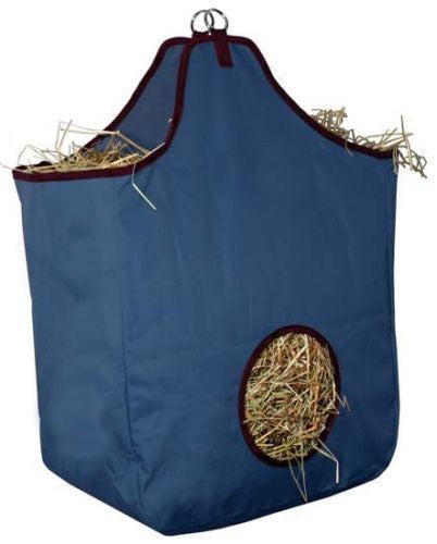 Lot of 20 Horse Hay Bags with D Rings in Navy Blue