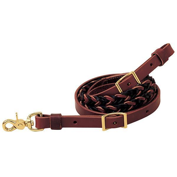 Two-Tone Leather with 5 Plait Roper Rein