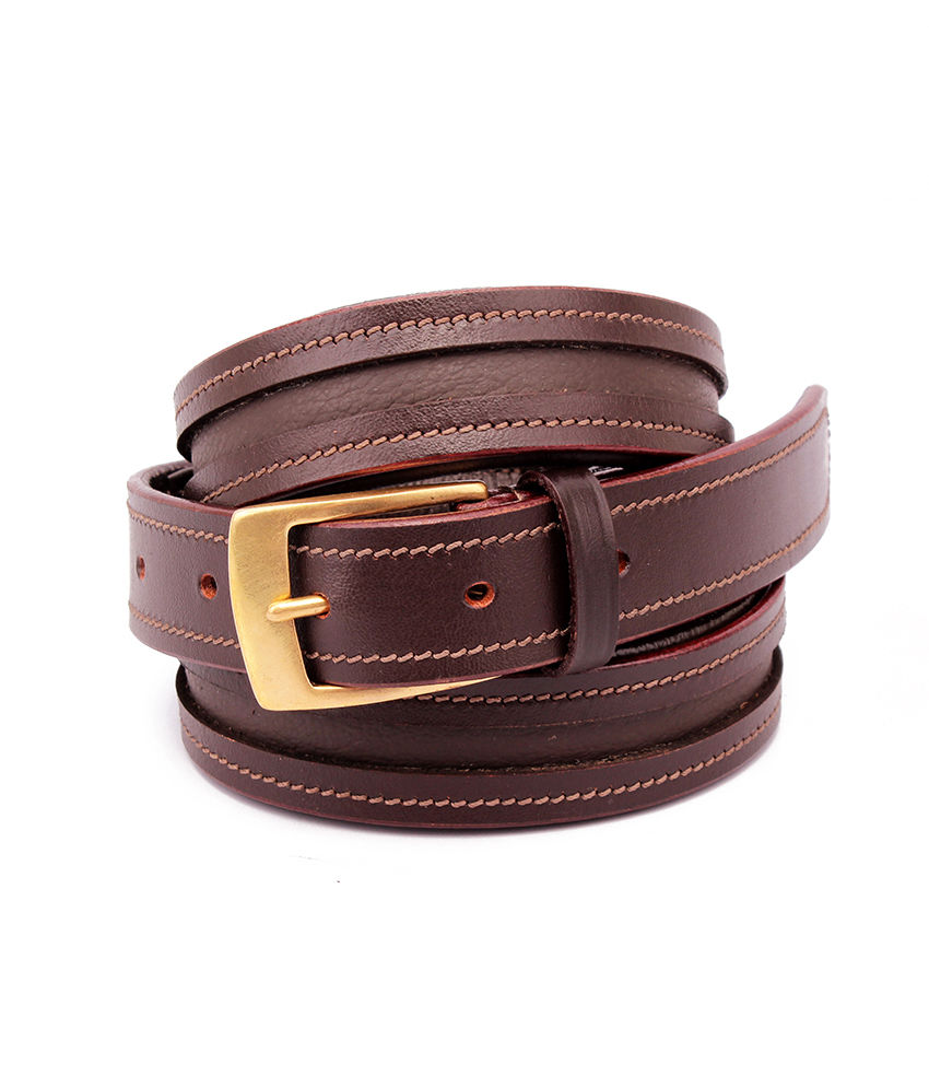 Empty Channel Leather Inlay Belts