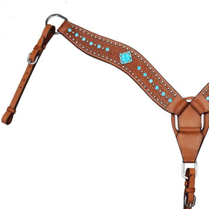 Turquoise Collection Western Breast Collar