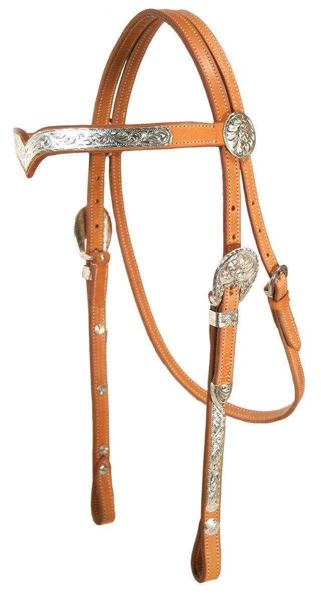 Classic Leather Headstall with Reins