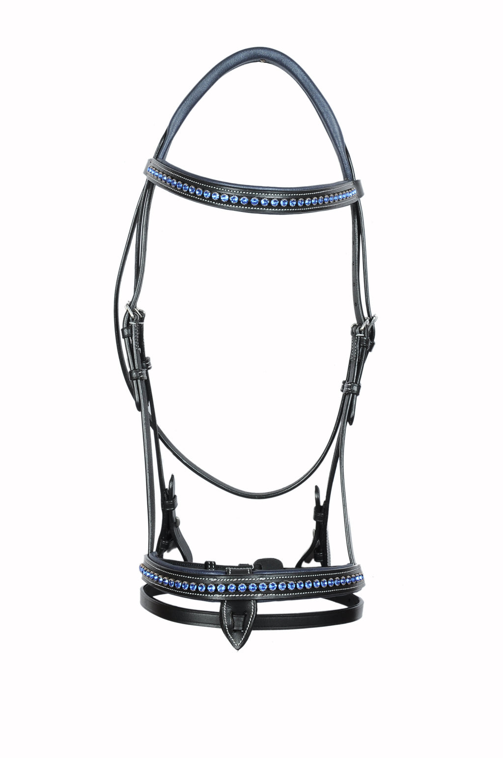 Blue Crystal Studded Fancy Leather Show Bridle