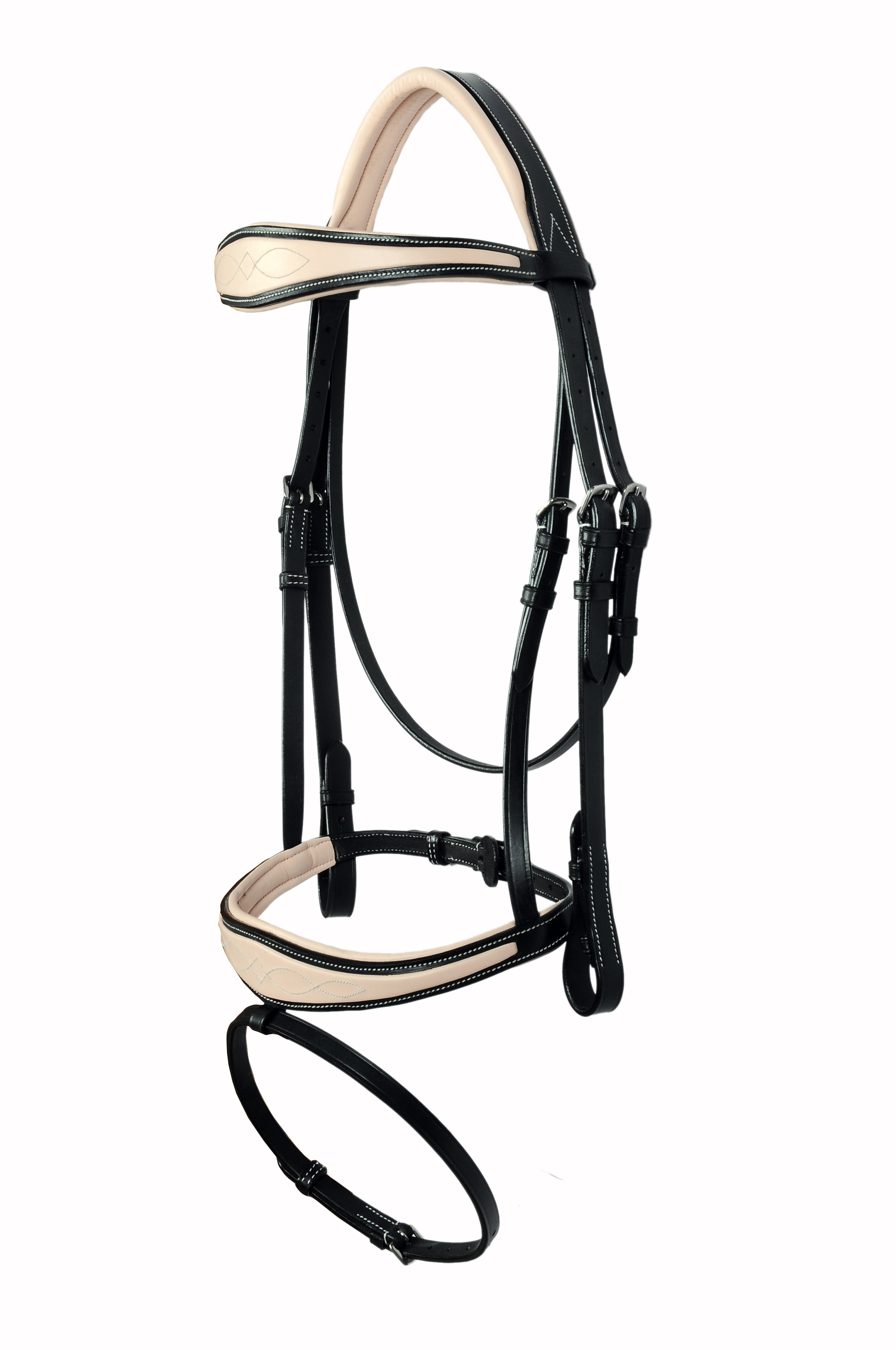 Padded Fancy Stitched Leather Jump Bridle