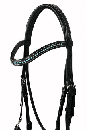 Leather Padded Bridle with SWAROVSKI Elements