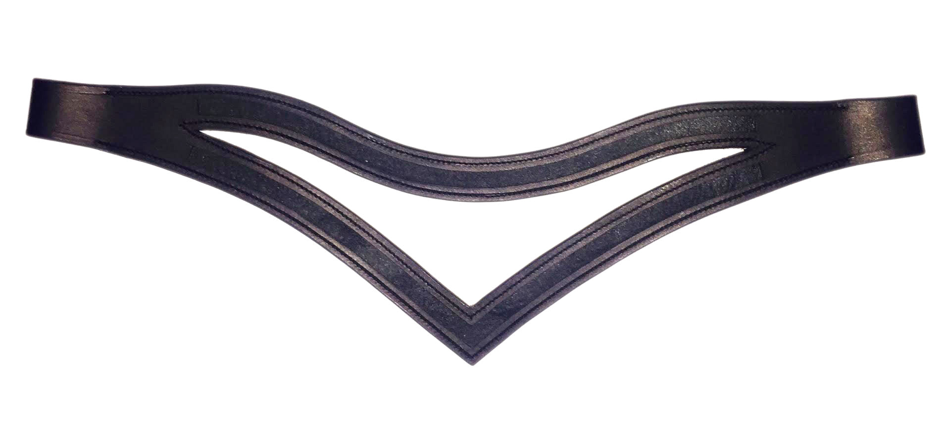 Double Empty channel browbands - U and V / Padded / Unpadded