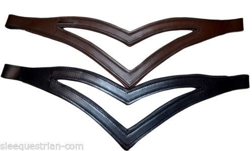 Double V Padded Leather Browband - 8 mm