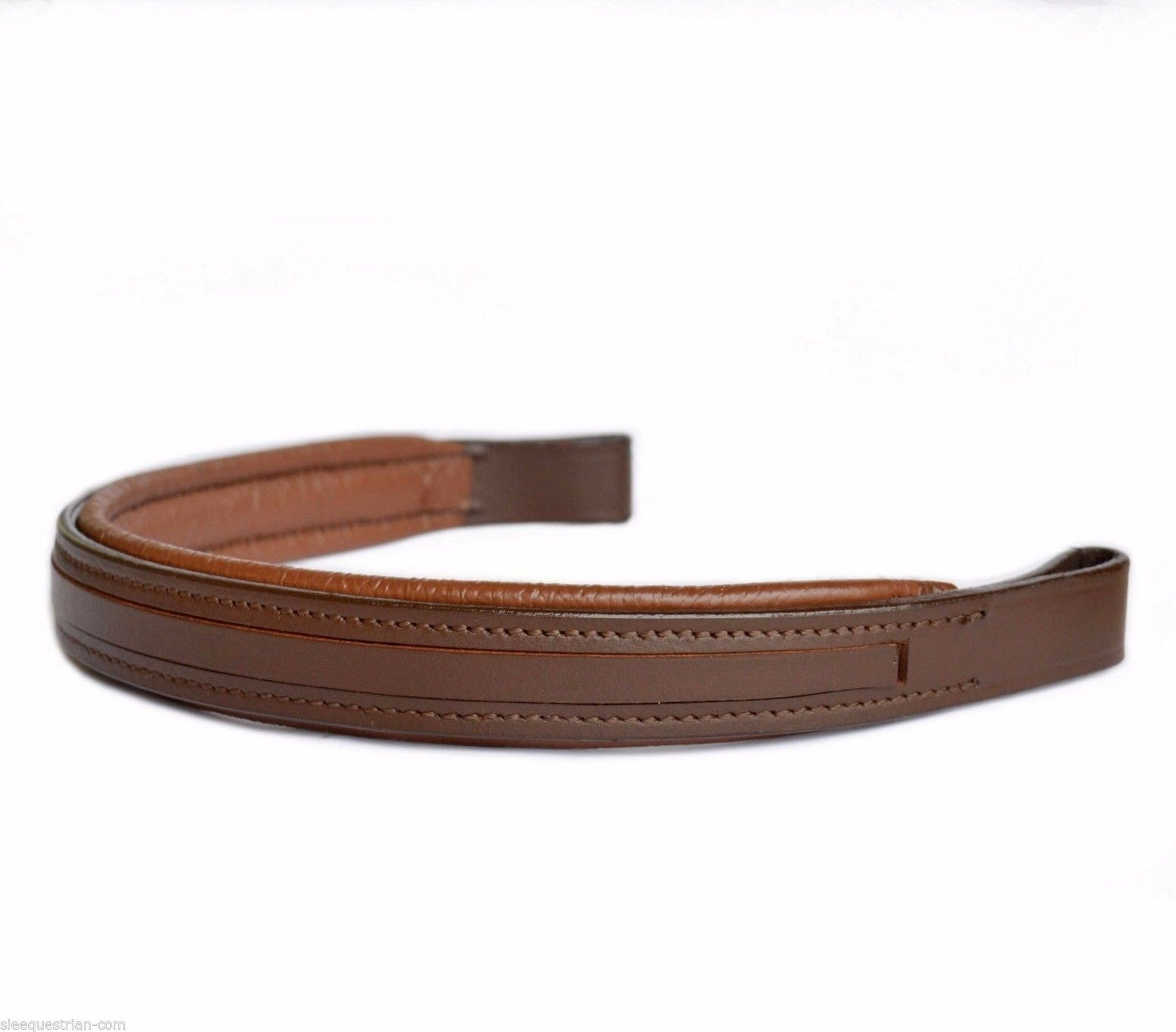 Empty Channel Leather Padded Horse Browband Custom made