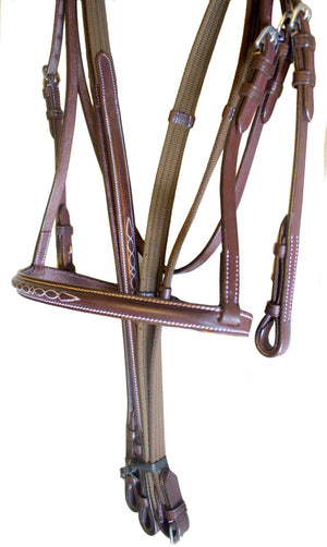 Havana Leather Fancy Stitch Oil England Bridle