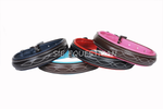 Fancy Stitched Dog Collars with Colored Padding
