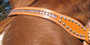 Pink Swarovski Crystal Inlaid Headstall & Breast Collar Set