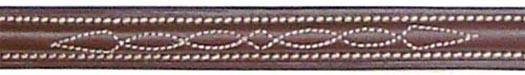 Raised Double Fancy Stitched Standing Martingale