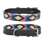 Polo Leather Thread Dog Collar