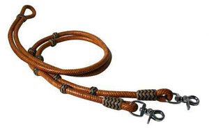 Rawhide Braided Leather Reins