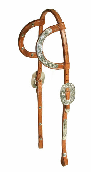 Classic Double Ear Headstall with Reins
