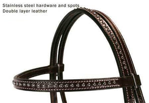 Spotted Leather Horse Headstall