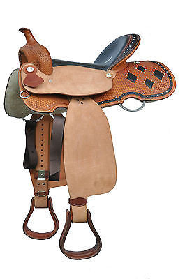Black Diamond Stingray Pleasure Show Saddle Natural USA Leather 15''-16''