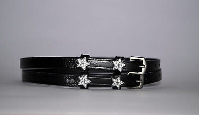 Star Spur Straps - English Leather Spur Straps