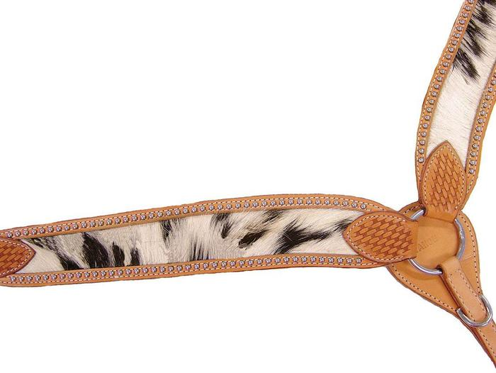Cowhair Inlaid Breast Collar With Spots