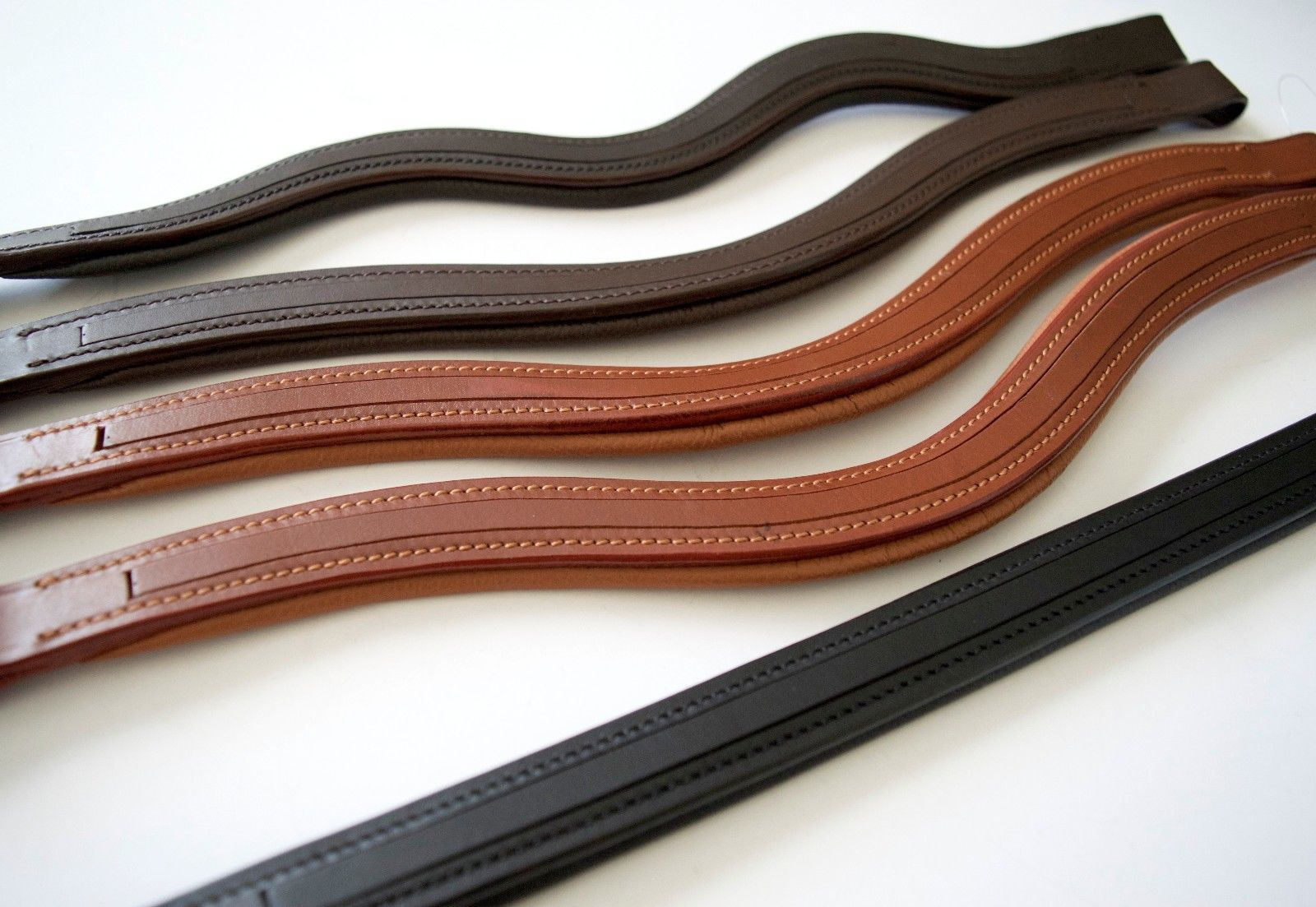 SIE Empty Channel Leather Browband - Lot of 30 Custom DIY