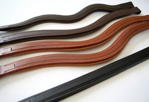(Qty. 7) SIE - Any Shape Customized Empty Channel Leather Browbands for Bridles