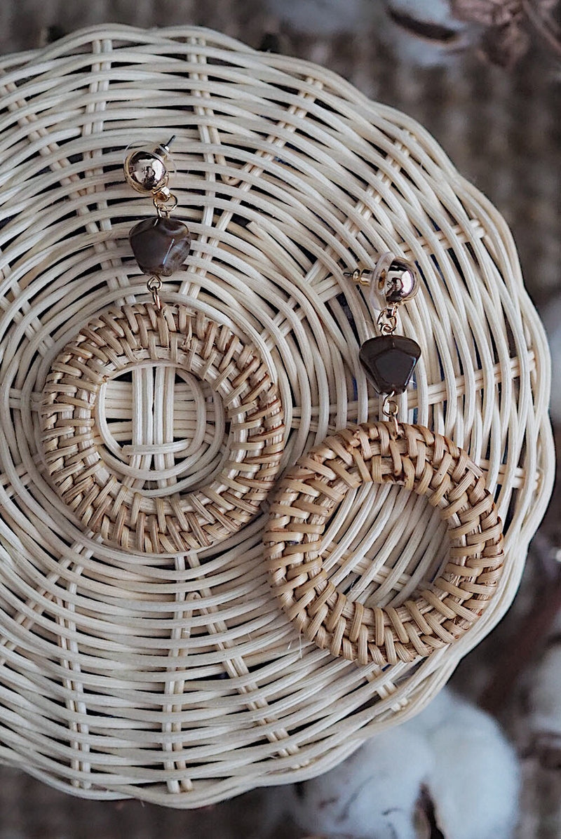 *Restock* Rattan Hoop Earrings