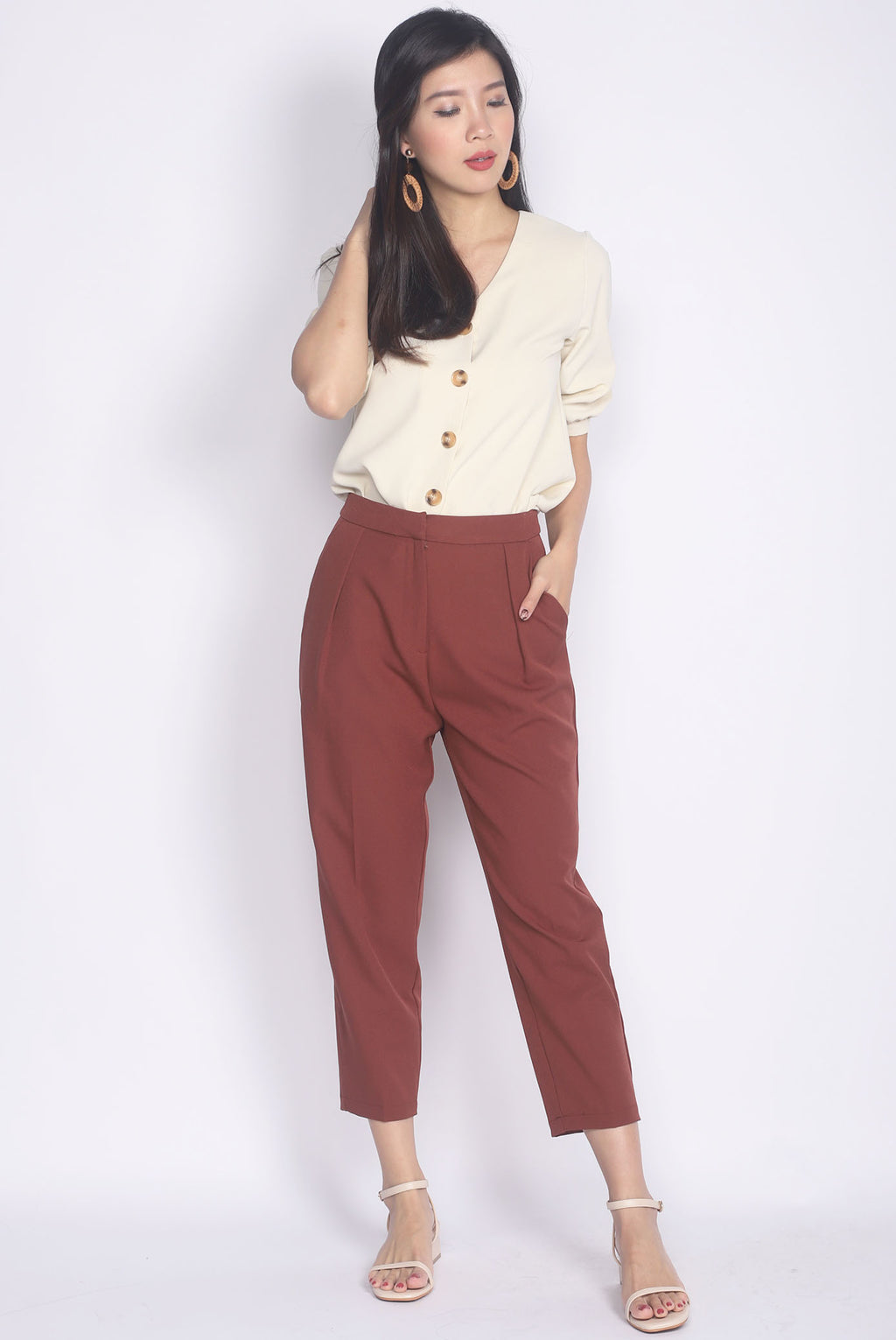 Abelie Pants In Terracotta