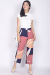 *Restock* Adabelle Abstract Pants In Navy Blue