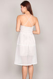 Adelaide Eyelet Midi Dress In White