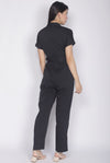 Adelise Utility Jumpsuit In Black