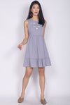 Aderes Embro Drop Waist Dress In Lilac