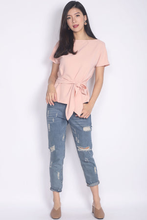 *Backorder* Adora Tie Sash Top In Pink