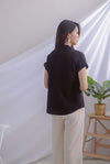 Aella Linen Relax Shirt In Black
