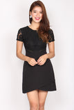 *BACKORDER* Amna Lace Wrap Tulip Dress In Black