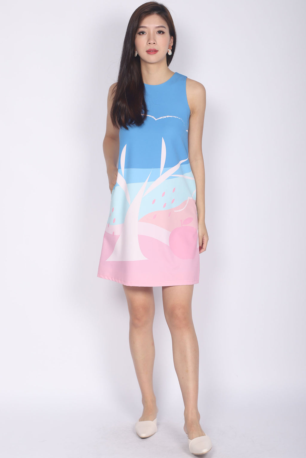 Apple Of My Eye Shift Dress In Pink/Mint