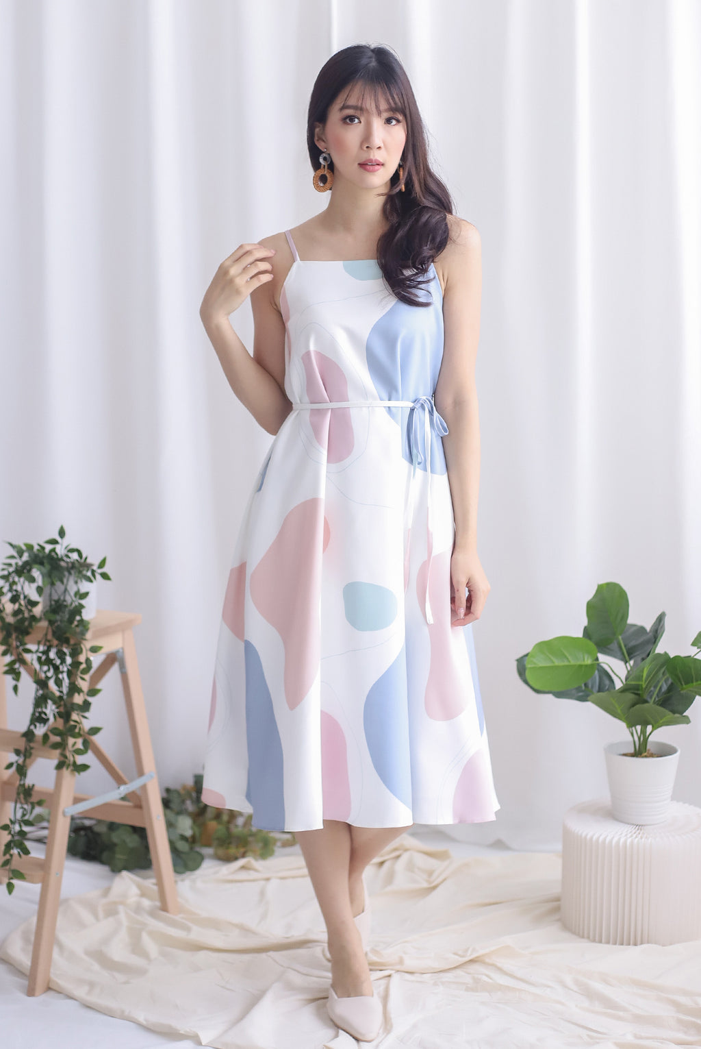 Aura Abstract Trapeze Dress In Candy