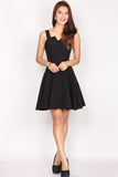*Restock* Aurora Bolt Neckline skater dress In Black