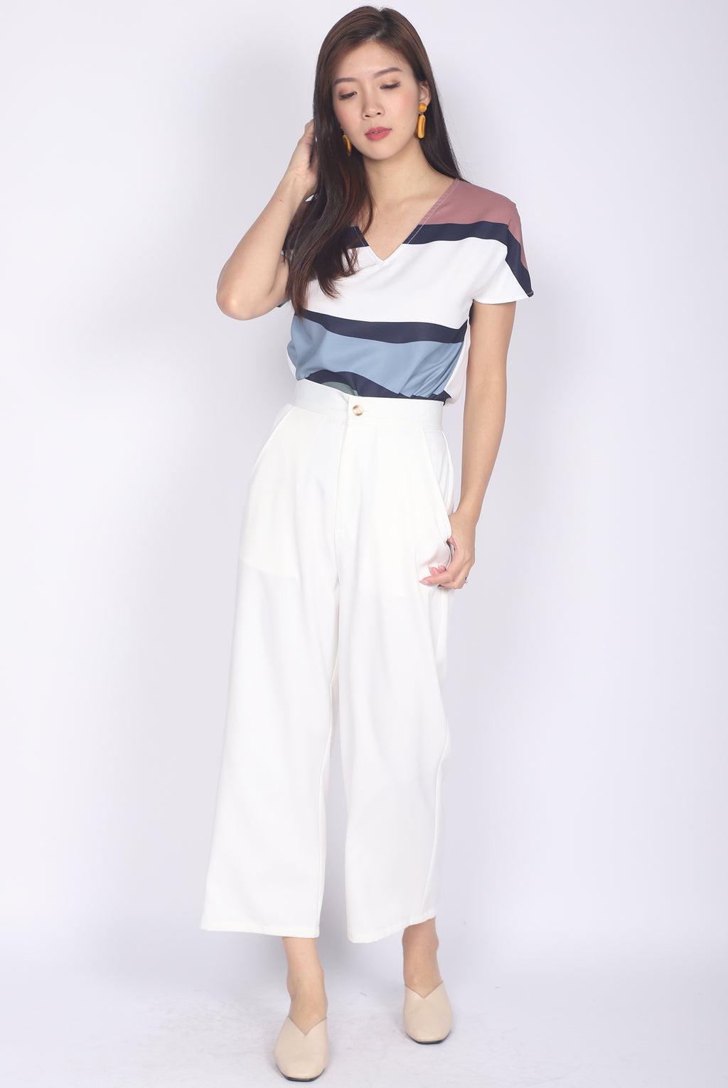 Winifred Culottes In White