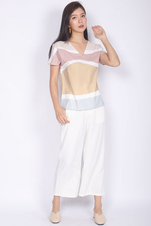 *Restocked* Bambi Abstract Batwing Top In Pastel