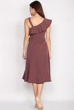 Bartlett Wave Ruffles Dress In Wistful Mauve