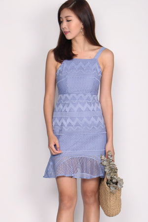 Bautrice Lace Mermaid Dress In Periwinkle