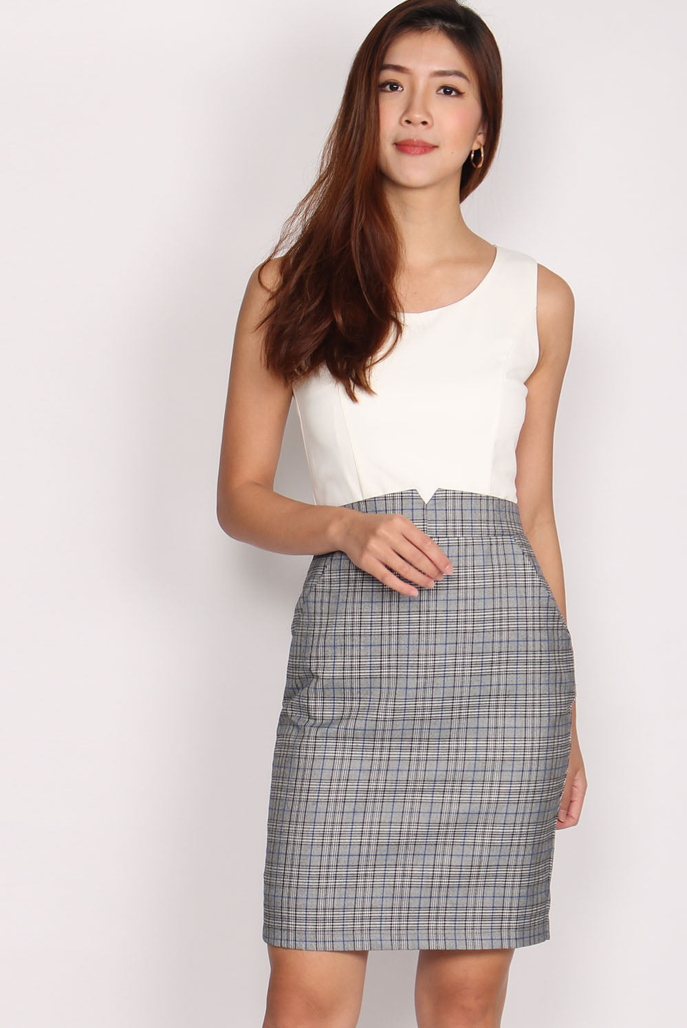 Bayard Tux Paperbag Dress In Glenn Plaids