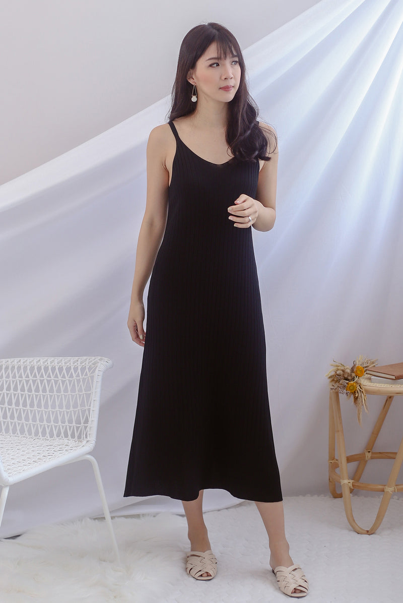 *Backorder III* Beka Knited Dress In Black