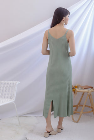 *Backorder* Beka Knited Dress In Sage