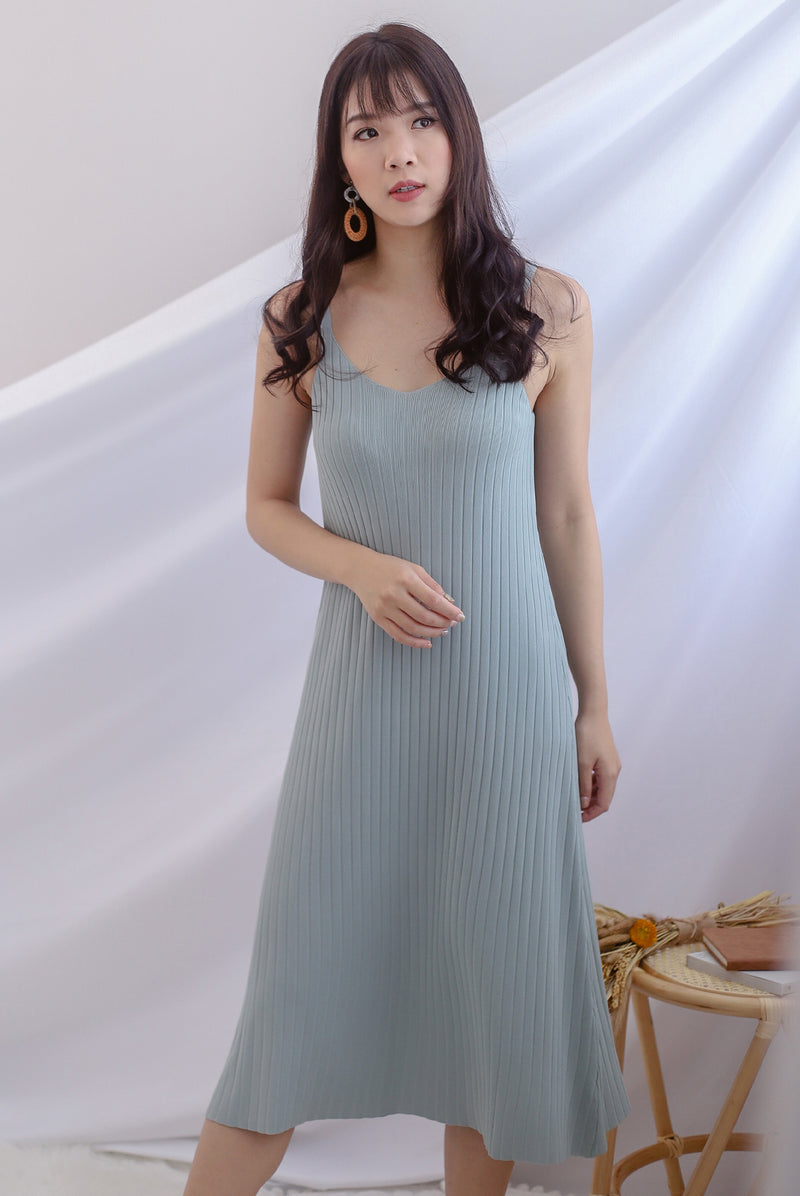*Backorder I* Beka Knited Dress In Seafoam
