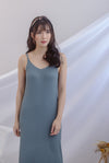 *Backorder III* Beka Knited Dress In Steel Blue